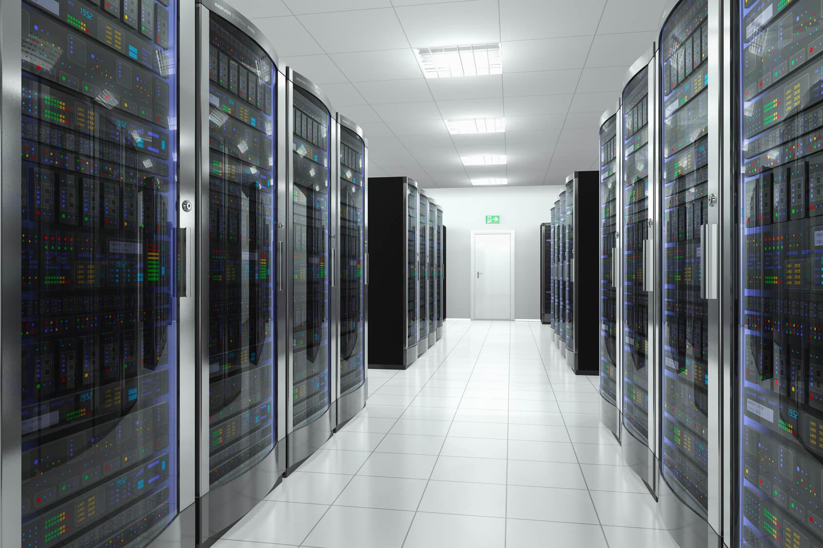 Racks in einem Serverraum