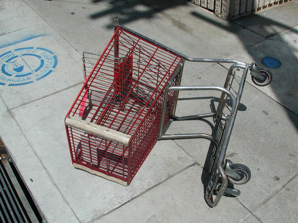 a broken cart