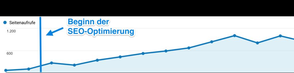 Magento SEO Erfolg: Analytics Screenshot