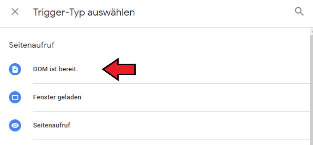 """Der Trigger """"DOM ist bereit"""""""
