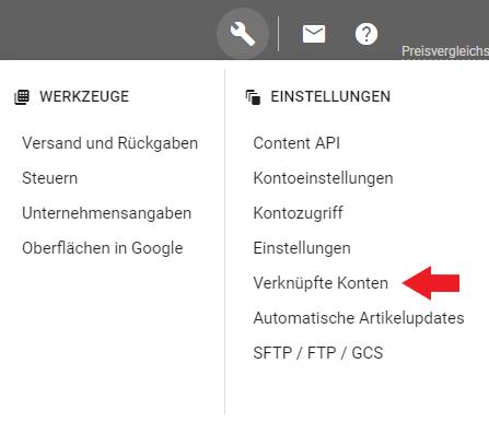 Google Merchant Accounts verknüpfen