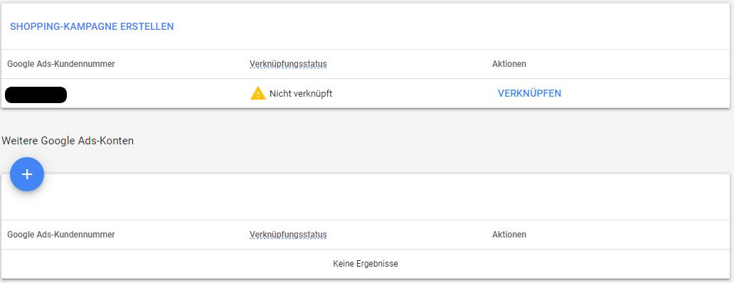 Google Merchant mit Google Ads verknüpfen